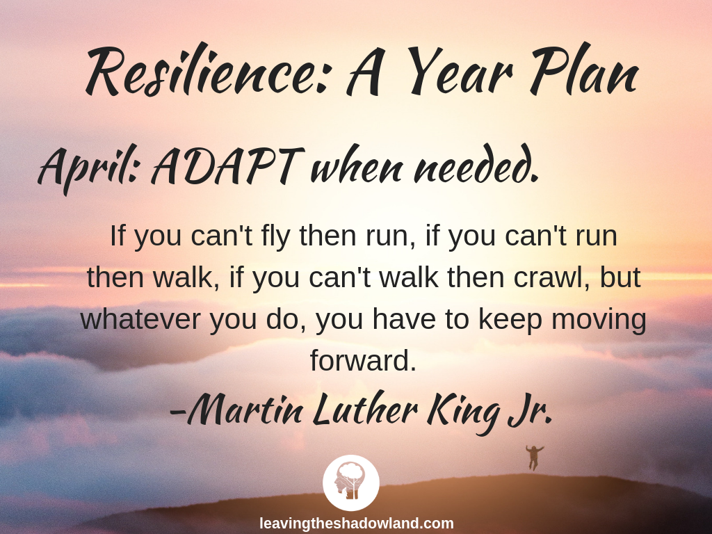 Resilience Plan for April: ADAPT when needed.