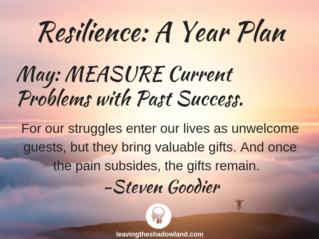 Resilience Plan for May: MEASURE Current Problems with Past Success.