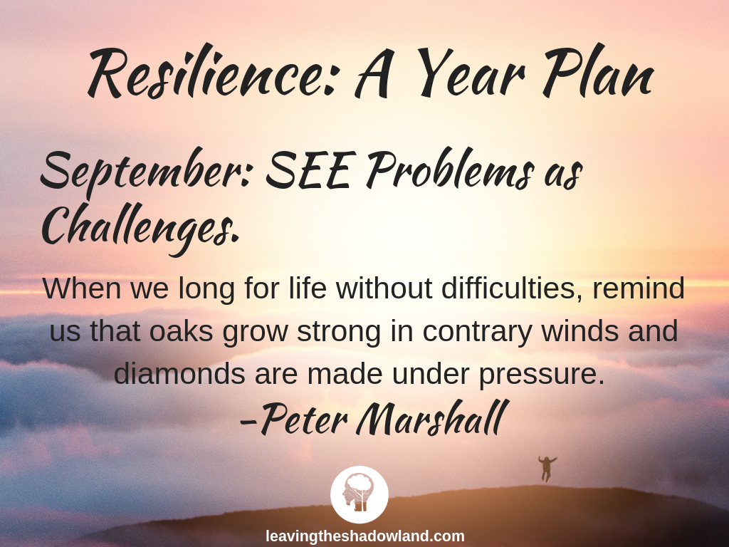 Resilience Plan for September: SEE Problems as Challenges.
