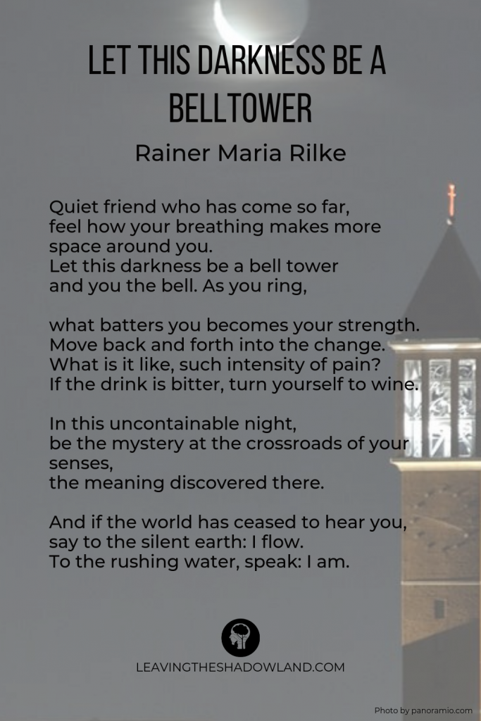 """""""Let This Darkness Be a Belltower"""" by Rainer Maria Rilke. Photo by panoramio.com."""